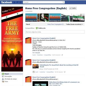 A página da Confederação Livre de Homs no Facebook (Reprodução)