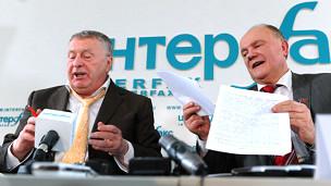 Vladimir Zhirinovsky e Gennadi Zyuganov