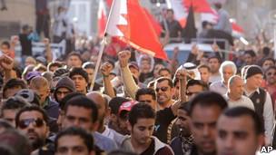 Protesta antigubernamental en Bahrein