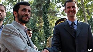 Mahmoud Ahmadinejad y Bashar Assad