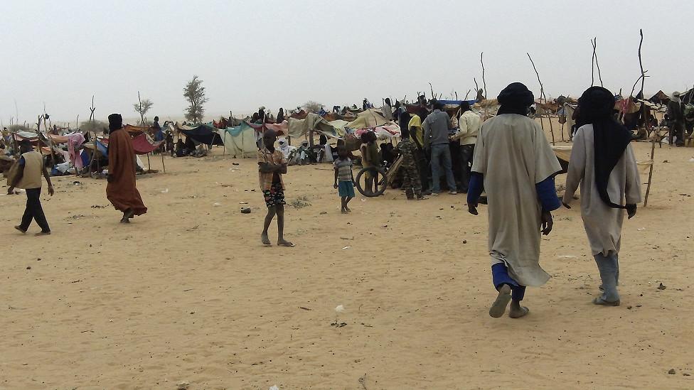 لاجؤون من مالي في منطقة سينغودار بالنيجر