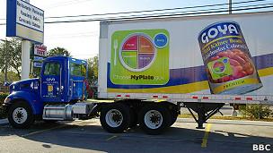 camión de Goya Foods