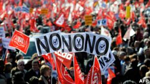 西班牙示威游行