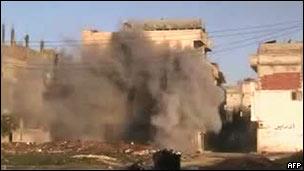 شهر حمص زیراتش  توپخانه ارتش سوریه