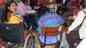 Marcha de discapacitados hacia La Paz