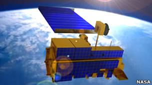 Imagen artística de la sonda Terra de la NASA