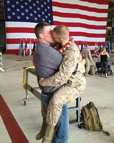 Fotografía publicada en Facebook por el sargento Morgan