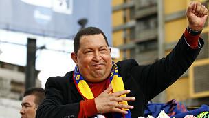Hugo Chávez antes de viajar a Cuba