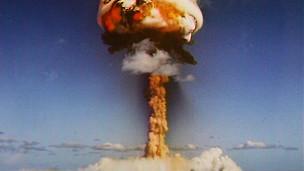 Ensayo nuclear francés.