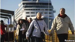pasajeros de crucero
