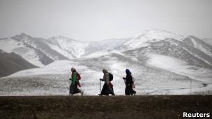 四川的藏人朝圣者