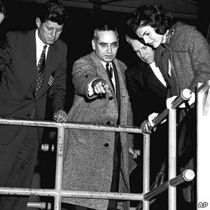 Alvin Weinberg con los Kennedy