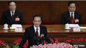 ون جیابائو در کنگره سالانه حزب کمونیست