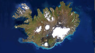 Islandia satelital