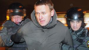 Lãnh đạo biểu tình Navalny bị cảnh sát bắt giữ