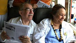 García Márquez y su esposa Mercedes