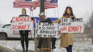 Eleitores de Romney. Getty