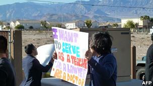 Inmigrantes indocumentados protestan en Estados Unidos