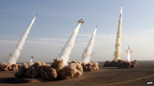 Mísseis iranianos/AFP