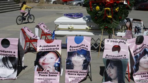 Protesta por las mujeres de Juárez