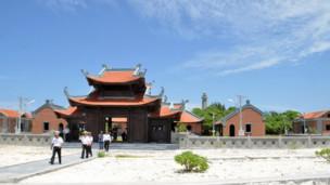 Một trong ba ngôi chùa chính của người Việt ở Trường Sa