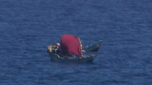 Barcos en aguas de Somalia