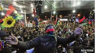 Celebración del aniversario de la revolución libia.
