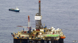 Plataforma de Chevron en el campo de Frade