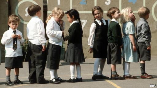 Siswa sekolah dasar Inggris