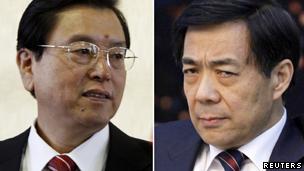 新任市委书记张德江与免职的薄熙来
