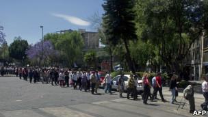 Evacuación en México