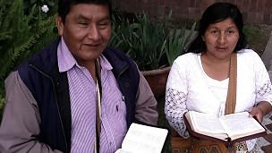 Rogelio Yonda y Ana Silvia Secue, indígenas cristianos colombianos