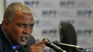 O procurador da República Eduardo Santos de Oliveira fala sobre a denúncia do MP contra a Chevron. | Foto: AFP