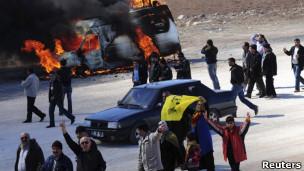 درگیری معترضان کرد با پلیس در دیاربکر