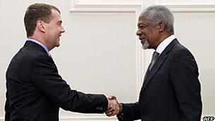 کوفی عنان و رئیس جمهوری روسیه