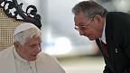 El Papa Benedicto XVI y Raúl Castro