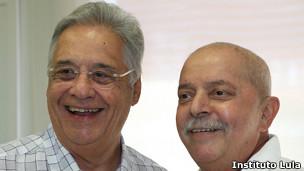 Lula da Silva con Fernado Henrique Cardoso