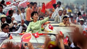 昂山素季是緬甸民主運動的象徵