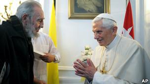 ديدار پاپ با فيدل کاسترو