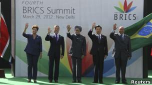 Líderes dos Brics reunidos em cúpula em Nova Déli (Foto: Reuters)