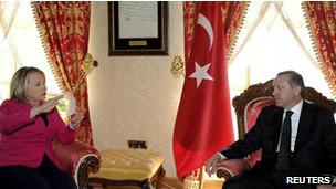 رجب طیب اردوغان و هیلاری کلینتون