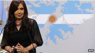 Cristina Kirchner. AFP