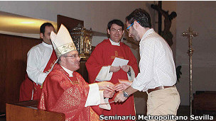 O seminarista Alberto Jaime Manzano
