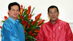 Thủ tướng Nguyễn Tấn Dũng và Thủ tướng Campuchia Hun Sen. Nguồn: Chinhphu.vn