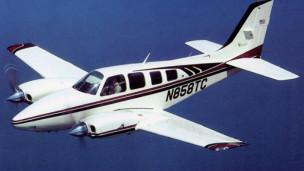 Avião Beechcraft Baron. Foto: San Diego Air & Space Museum Archives/Licença Creative Commons