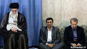 خامنه ای، احمدی نژاد و لاریجانی