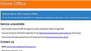 وبسایت وزارت کشور بریتانیا