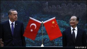 اردوغان و نخست وزیر چین