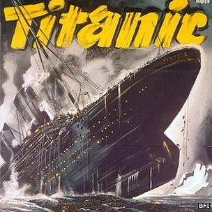 """Poster de la cinta alemana de 1943 """"Titanic"""""""