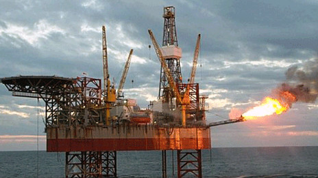 Một dàn khoan dầu khí ở Biển Đông